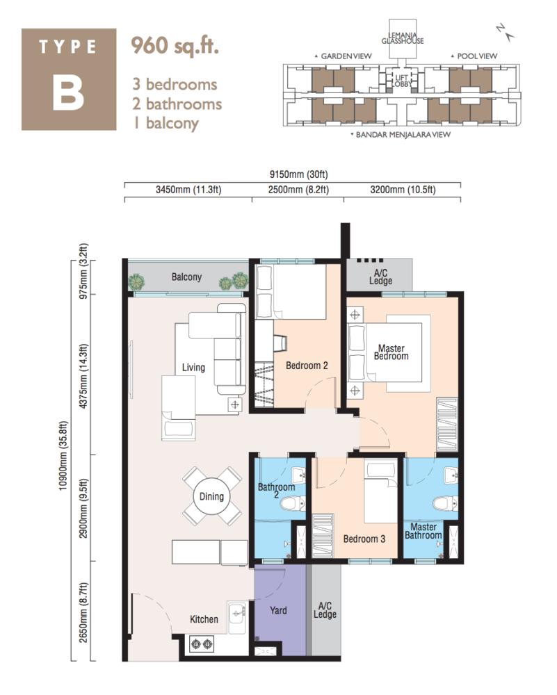 Lemanja Type B Floor Plan