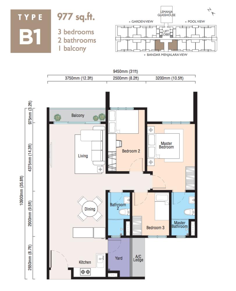 Lemanja Type B1 Floor Plan
