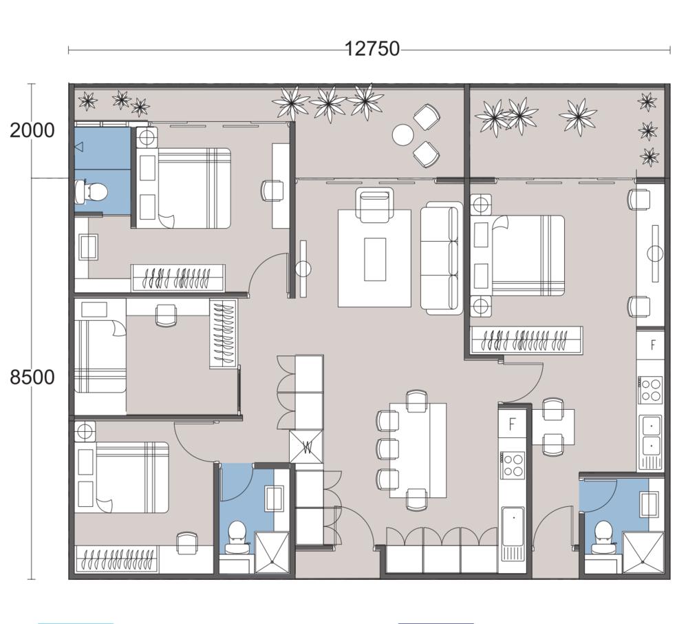 The Podium Type R3A Floor Plan