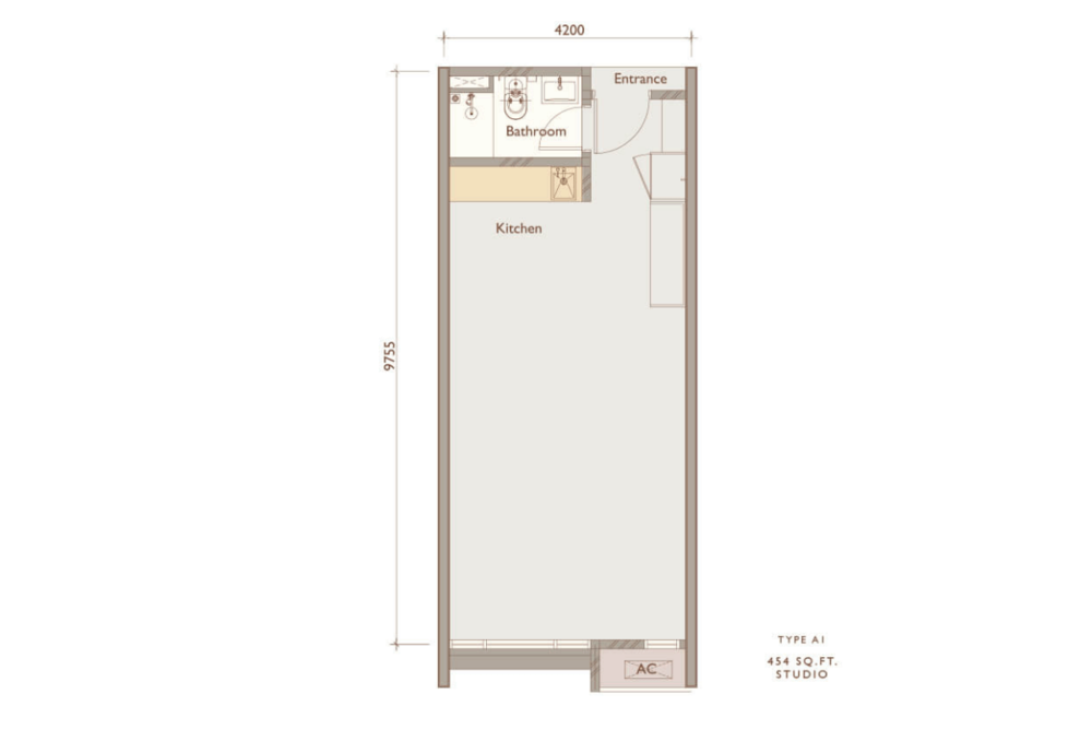 Chambers Kuala Lumpur Type A1 Floor Plan