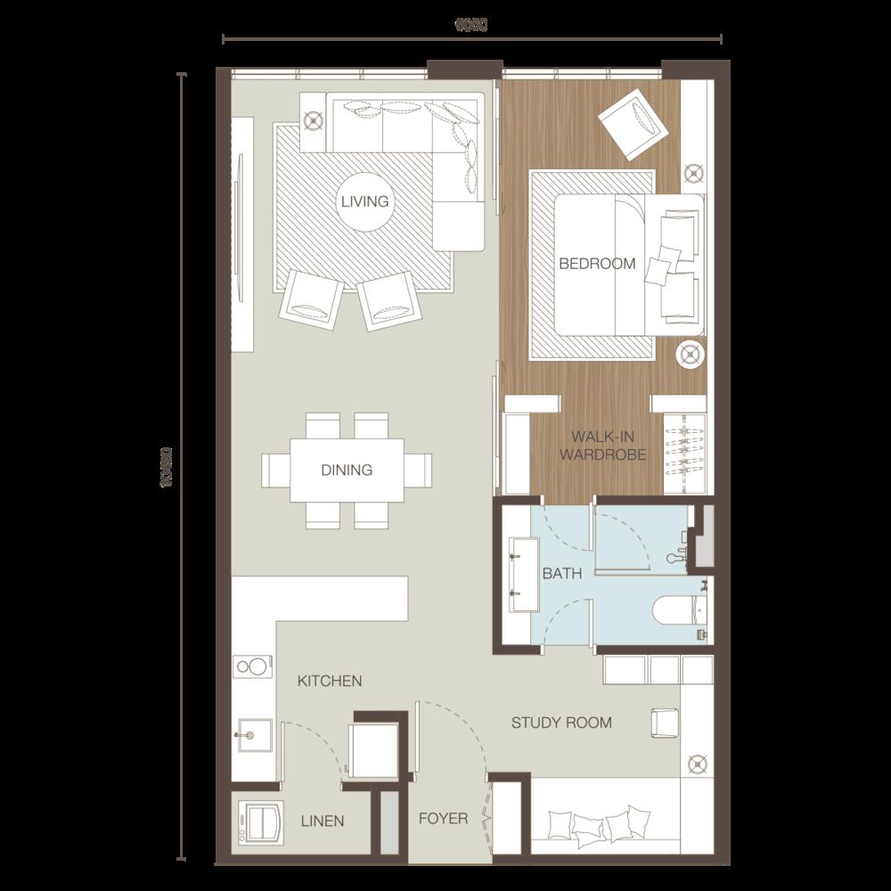 Ativo Suites Type C Floor Plan