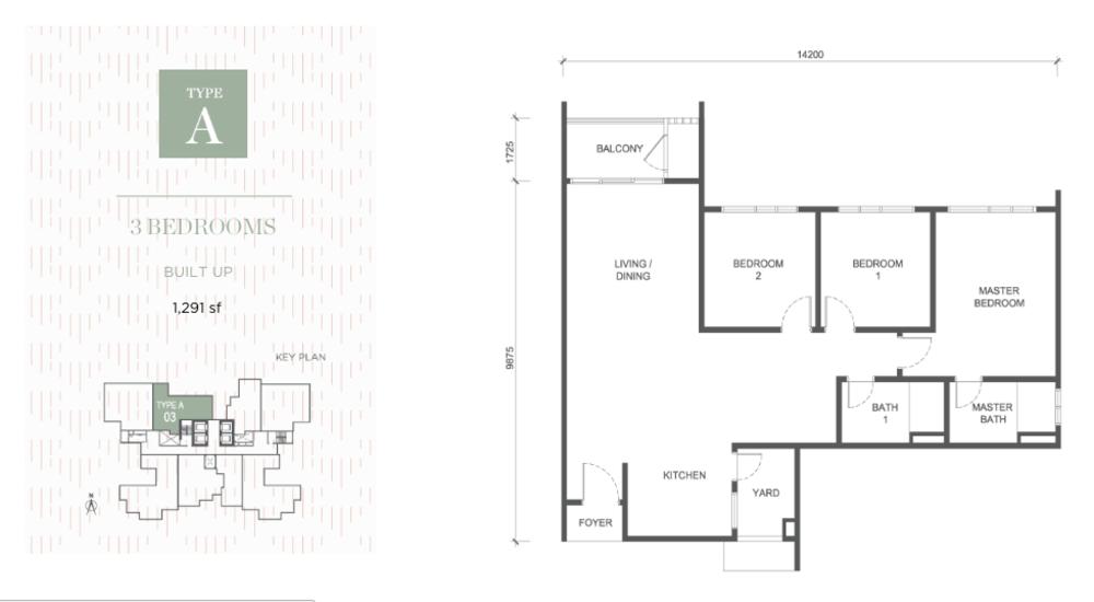 Damansara Seresta Type A Floor Plan