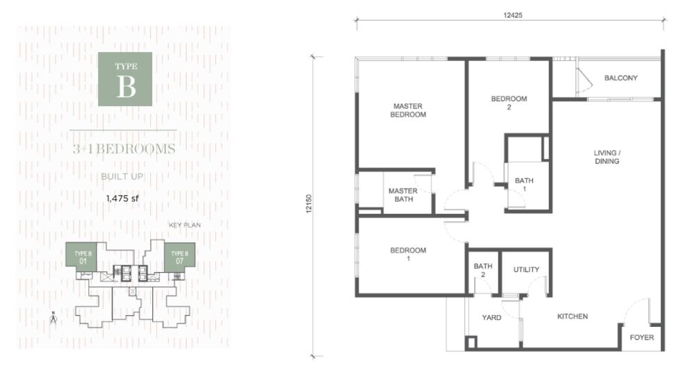 Damansara Seresta Type B Floor Plan