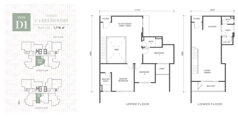 Damansara Seresta Type D1 Floor Plan