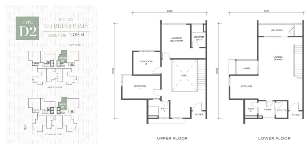 Damansara Seresta Type D2 Floor Plan