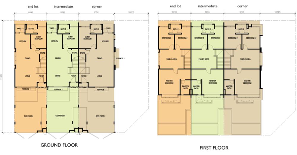 Sena Parc Homes Azalea Floor Plan