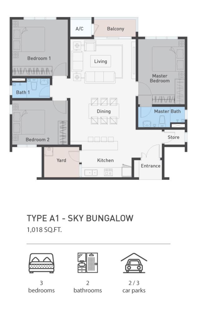 ARCA @ Klang ARCA Residence - Type A1 Floor Plan