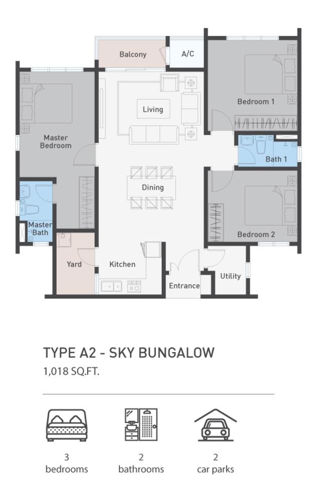 ARCA @ Klang ARCA Residence - Type A2 Floor Plan