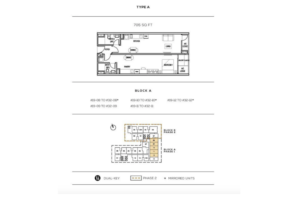 The Luxe by Infinitum Type A Floor Plan