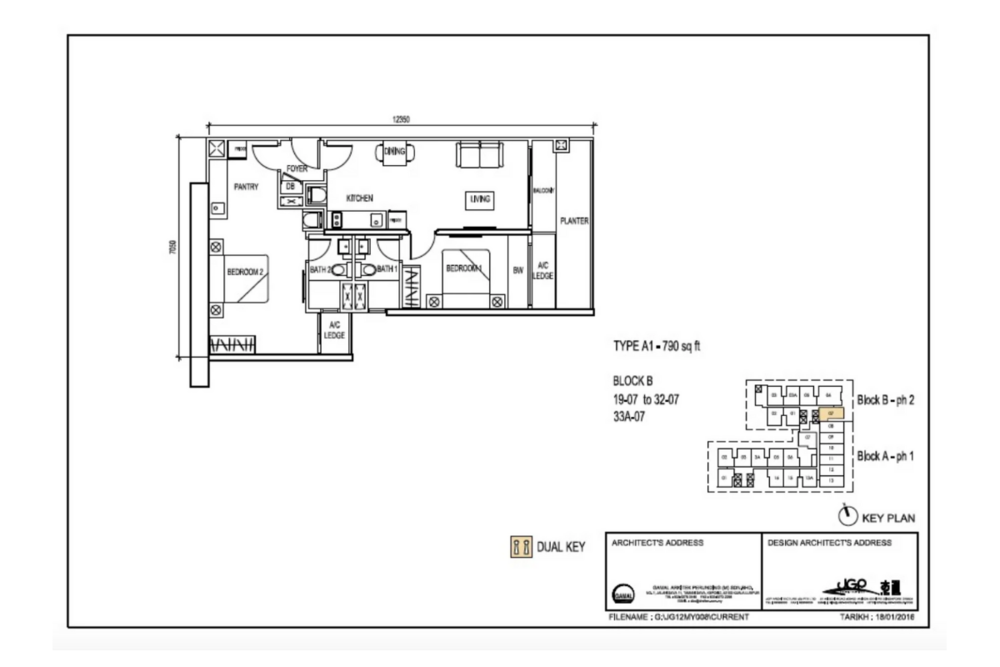 The Luxe by Infinitum Type A1 Floor Plan
