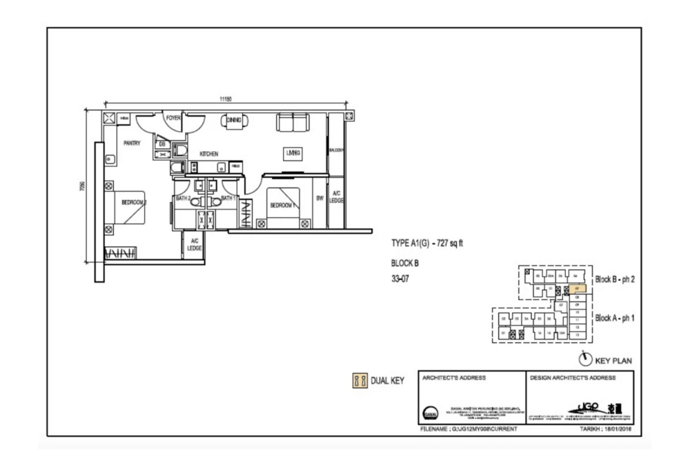 The Luxe by Infinitum Type A1(G) Floor Plan
