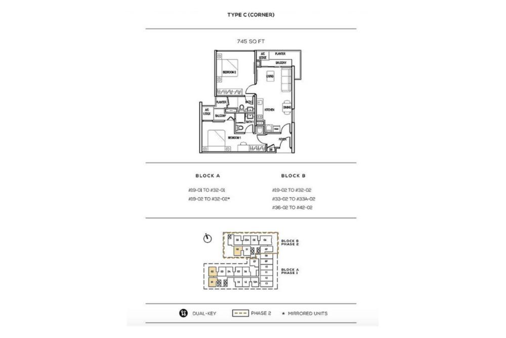 The Luxe by Infinitum Type C(C) Floor Plan