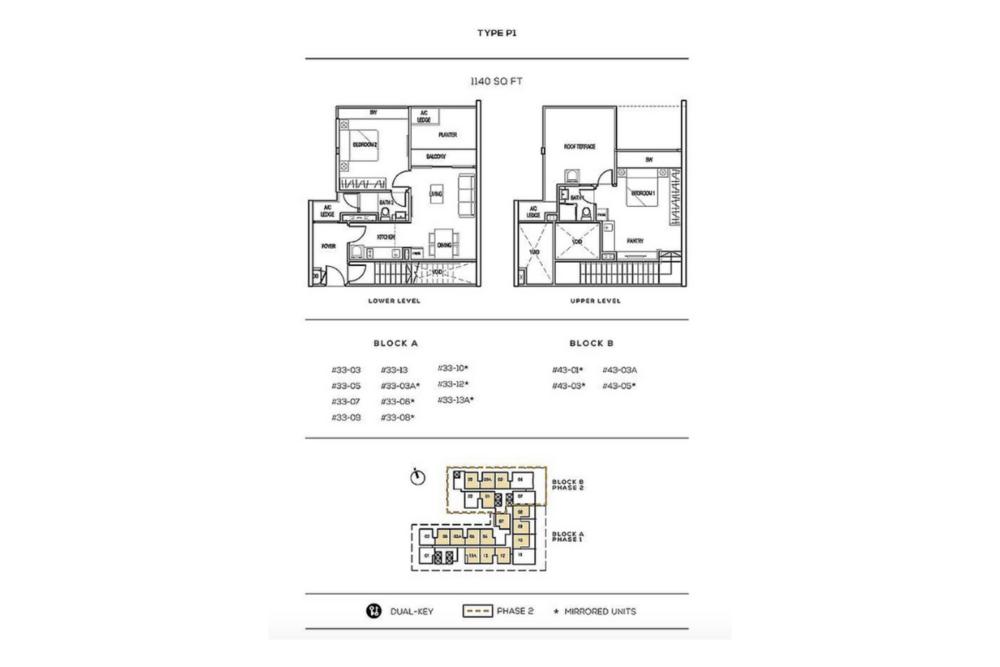 The Luxe by Infinitum Type P1 Floor Plan