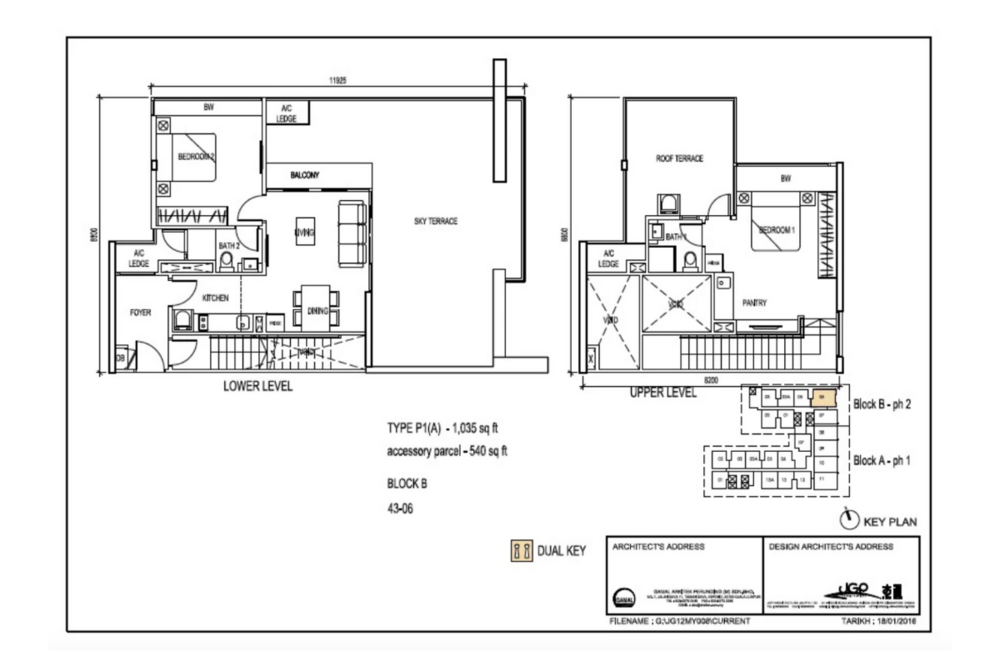 The Luxe by Infinitum Type P1(A) Floor Plan