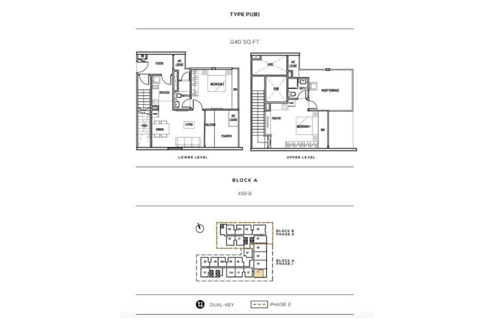 The Luxe by Infinitum Type P1(B) Floor Plan