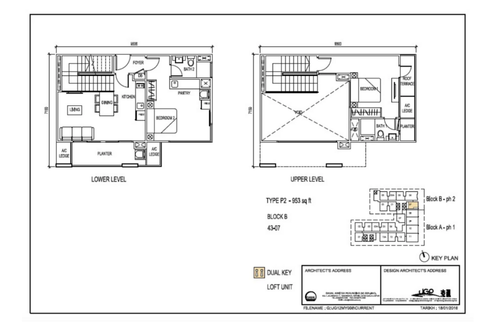 The Luxe by Infinitum Type P2 Floor Plan