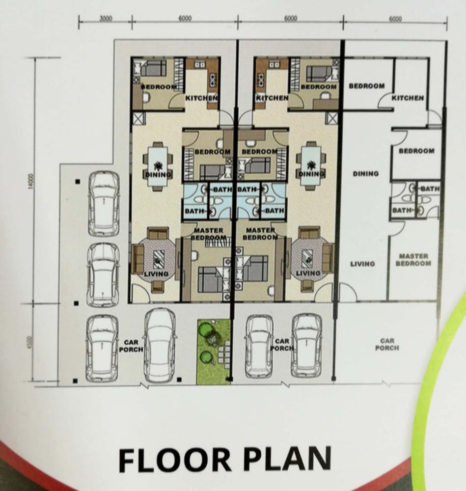 Amethyst 1 @ Petra Vistana Single-Storey Terrace Floor Plan