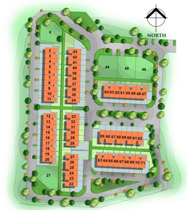 Site Plan of Amethyst 1 @ Petra Vistana