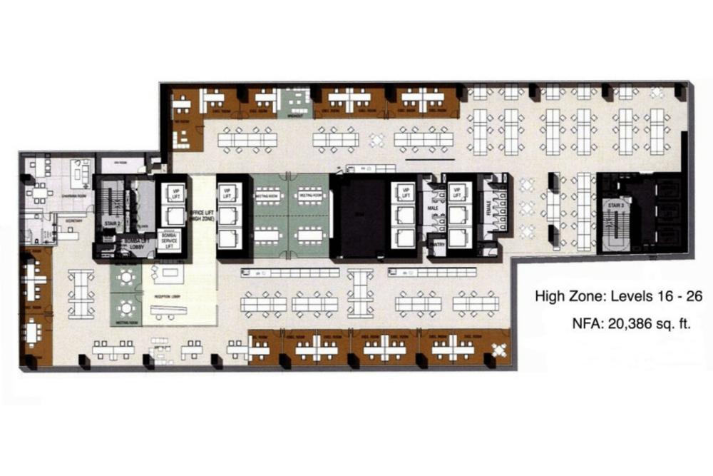 Equatorial Plaza High Zone Floor Plan