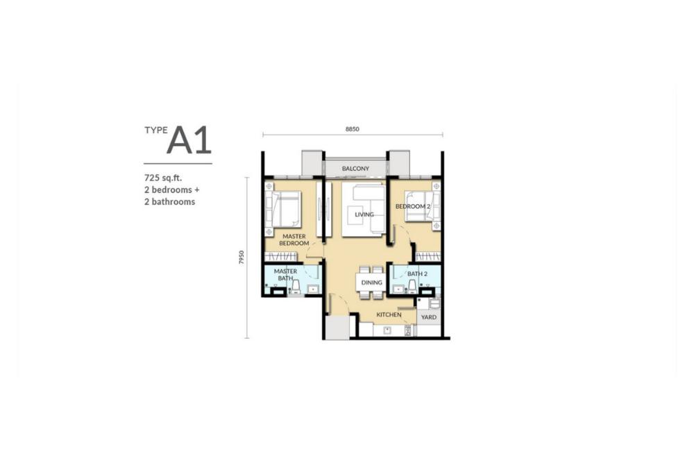 Sinaran @ Wangsa Maju Type A1 Floor Plan