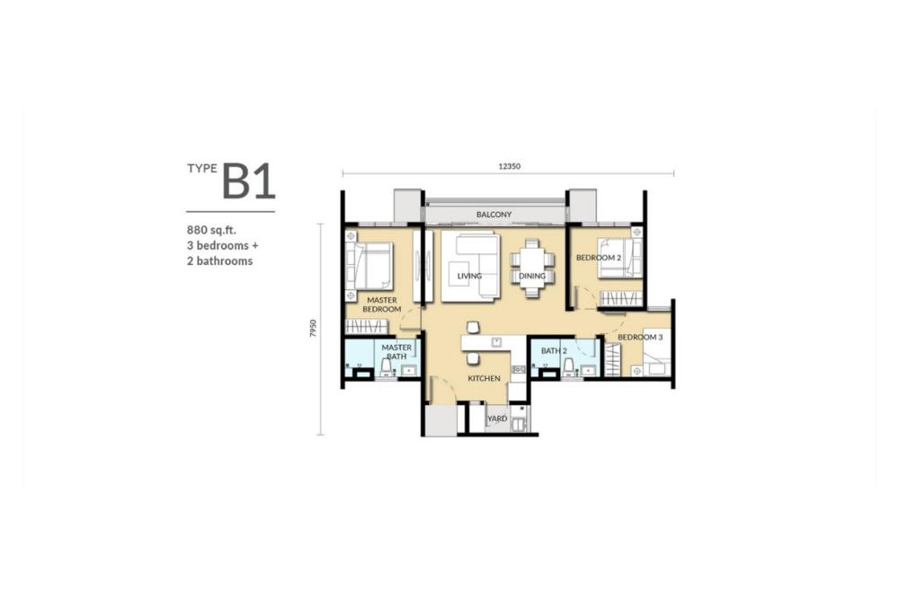 Sinaran @ Wangsa Maju Type B1 Floor Plan