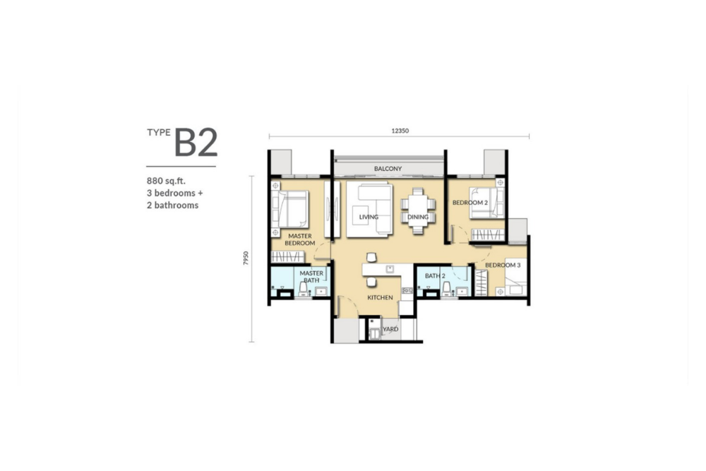 Sinaran @ Wangsa Maju Type B2 Floor Plan