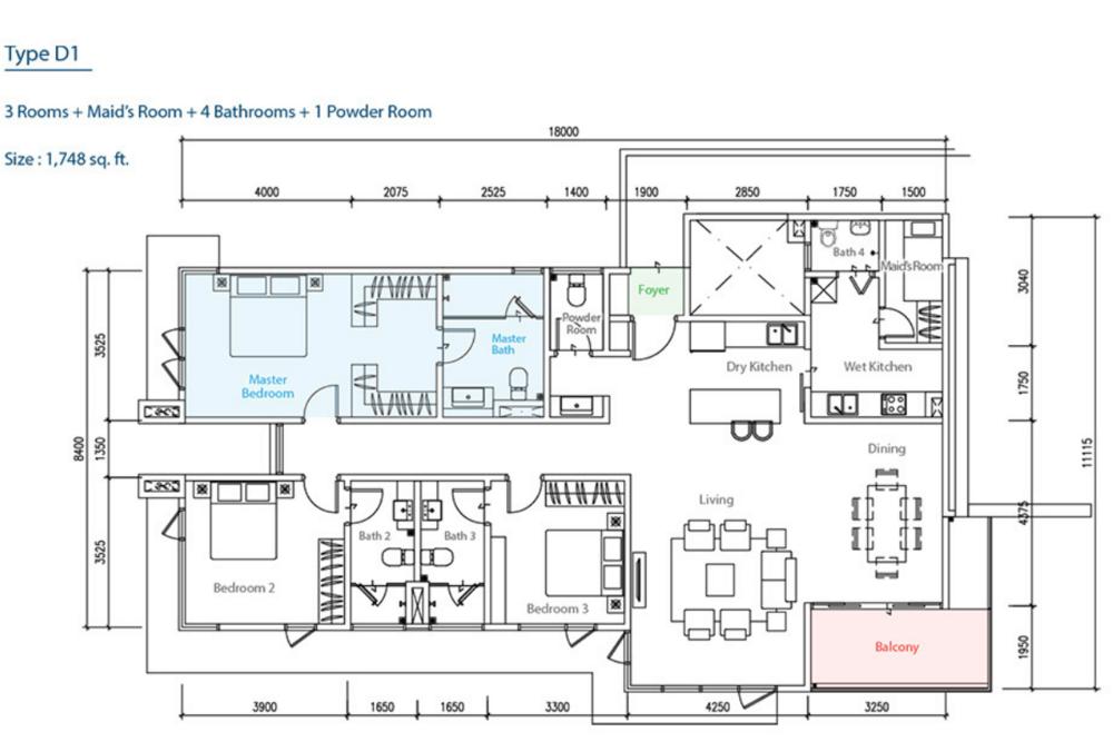 The Como Type D1 Floor Plan