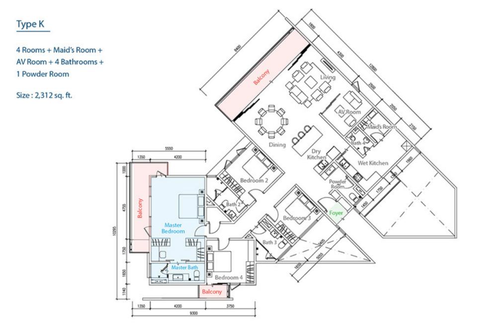 The Como Type K Floor Plan
