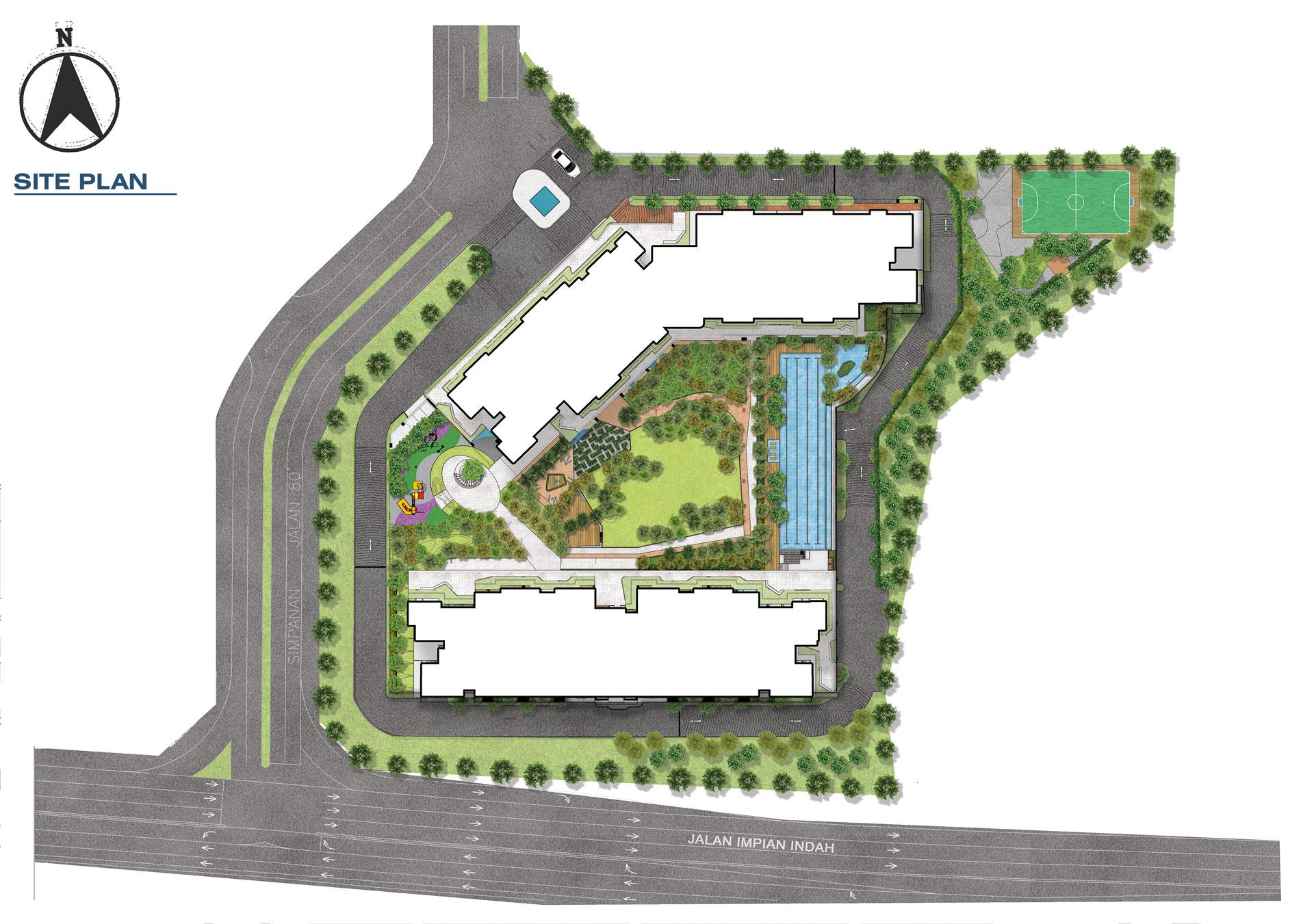 Site Plan of Residensi Bintang