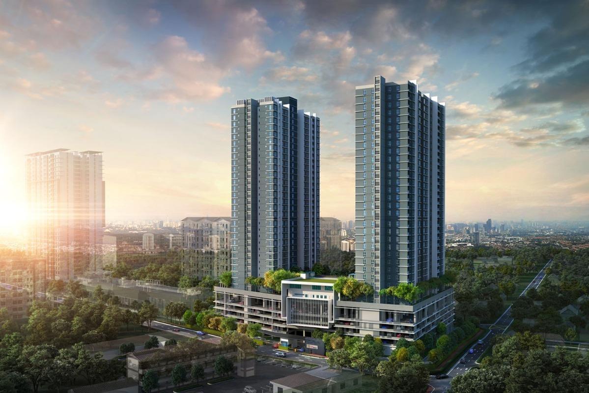 Aerial facade view 121 residences ayzfej yosydtfzkxuns