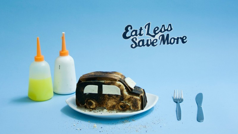 Eat less save more truncate