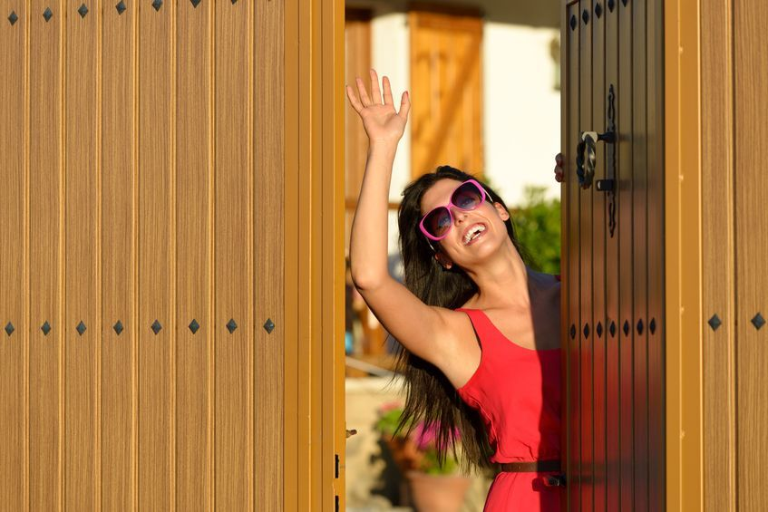 Get to know your neighbours after you move in waving