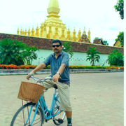 Cycling in vientiane small