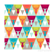 Incomible hipster style seamless pattern small